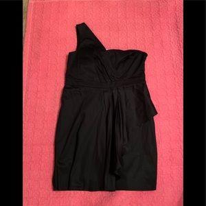 Torrid black one shoulder dress size 16